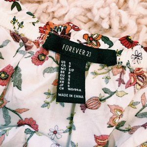 Forever 21 Pants & Jumpsuits - Forever 21 Strapless Floral Print Romper
